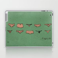 UNDERWEAR LOVE: It says a lot Laptop & iPad Skin