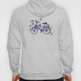 Bicycle and Floral Ornament Hoody
