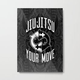 Brazilian Jiu-jitsu Chess Kings Metal Print