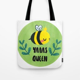 'Yass Queen' Queen Bee Illustration Tote Bag