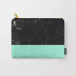 Mint Meets Black Marble #1 #decor #art #society6 Carry-All Pouch