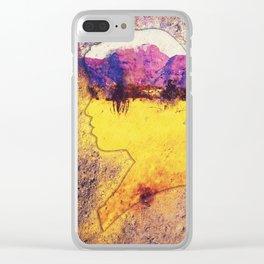 Golden Field Clear iPhone Case