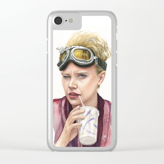 Jillian Holtzmann Portrait | Ghostbusters Art Painting Clear iPhone Case