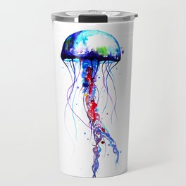Jellyfish blue Travel Mug