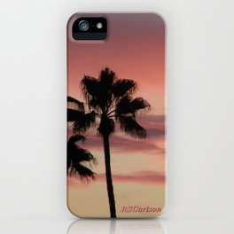 Atmospherics Number 3: Two Palms in the Sunset iPhone Case