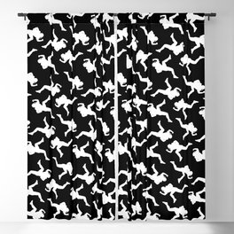 Classic American Football Pattern Silhouettes II Blackout Curtain