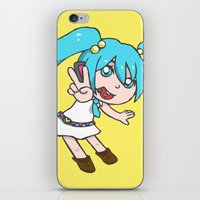 vocaloid iPhone & iPod Skins featuring Miku Miku by tees4weebs