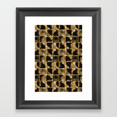 scribble (yellow) Framed Art Print