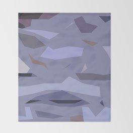Fragmented Violet Throw Blanket