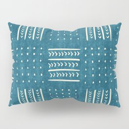 Mud Cloth Patchwork in Teal Pillow Sham
