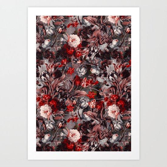 New Year's flowering night Art Print