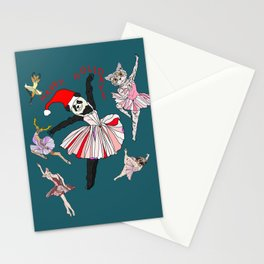Hipster Holiday Ballerinas Stationery Cards