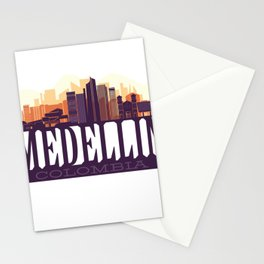 Medellin skyline, Colombia Stationery Cards