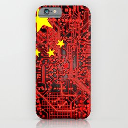 circuit board Flag (China) iPhone Case
