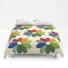Flower pattern based on James Ward's Chromatic Circle Comforters