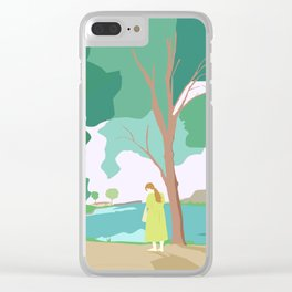 Lagoon Hour Clear iPhone Case