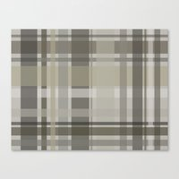 plaid Canvas Prints featuring Plaid by GoAti