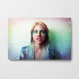 Glitter and grease. Metal Print
