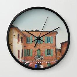 Roussillion, Provence photograph Wall Clock