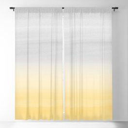 Touching Yellow Gray Watercolor Abstract #1 #painting #decor #art #society6 Blackout Curtain