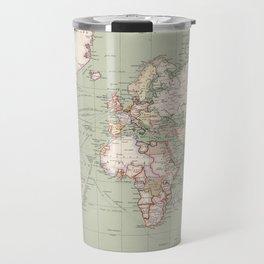 Vintage Map of The World (1915) Travel Mug