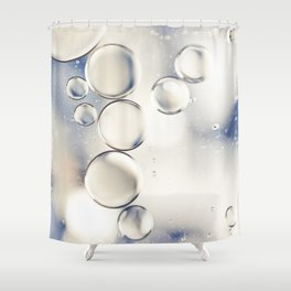 pearlescent water droplets Shower Curtain