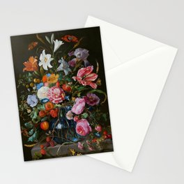 Vase of Flowers II Jan Davidsz de Heem Stationery Cards