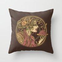 bon iver Throw Pillows featuring Bon Appetit by Enkel Dika