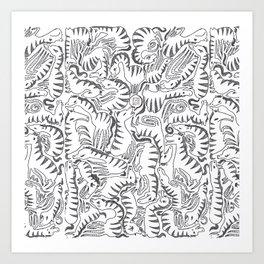 ZEBRA LOOP Art Print