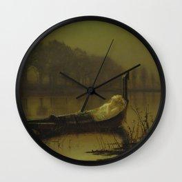 The Lady of Shalott by John Atkinson Grimshaw Wall Clock