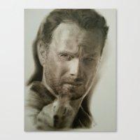 rick grimes Canvas Prints featuring Rick Grimes by David Nash