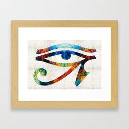Eye of Horus - Art By Sharon Cummings Framed Art Print