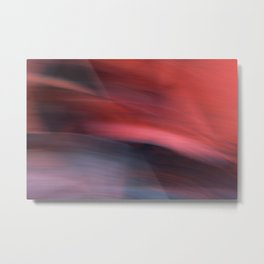 Abstract Red to Black Shades Metal Print