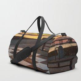 Checkerboard Sunset Duffle Bag