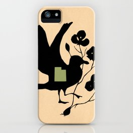 Utah - State Papercut Print iPhone Case