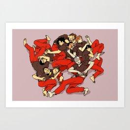 Nekoma Kitten Pile Art Print