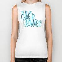 charlie brown Biker Tanks featuring Charlie Browniest by Chelsea Herrick