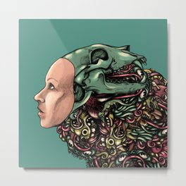 Hat of bones color Metal Print