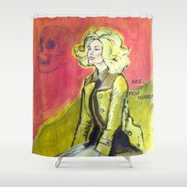 Blonde & Pink Shower Curtain