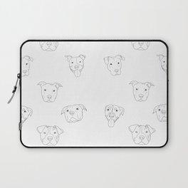 White pit bull love Laptop Sleeve