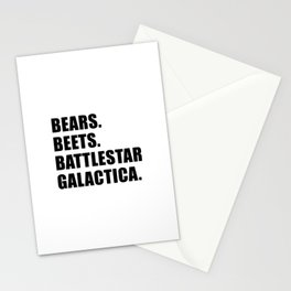 Bears. Beets. Battlestar Galactica. Stationery Cards