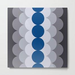 Gradual Lapis Blue Metal Print