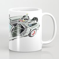 delorean Mugs featuring The Delorean by Josh Ln