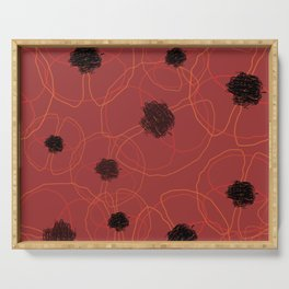 Poppy Red Pattern MT Serving Tray