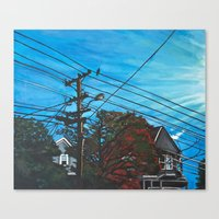 brompton Canvas Prints featuring Brompton Ave. by Rebecca Sandford-Smith