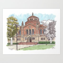 Powell Library UCLA Art Print