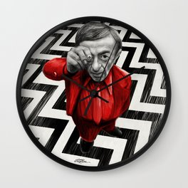 Homage to Twin Peaks - Fire walk with me Wall Clock