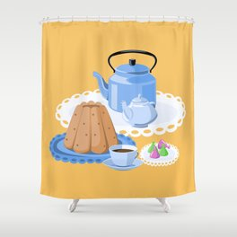 Time to drink tea Shower Curtain