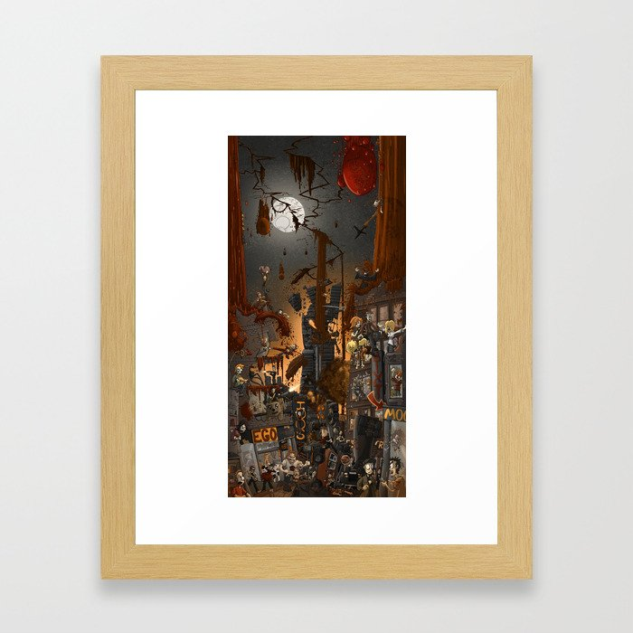 Fracture in the sky Framed Art Print