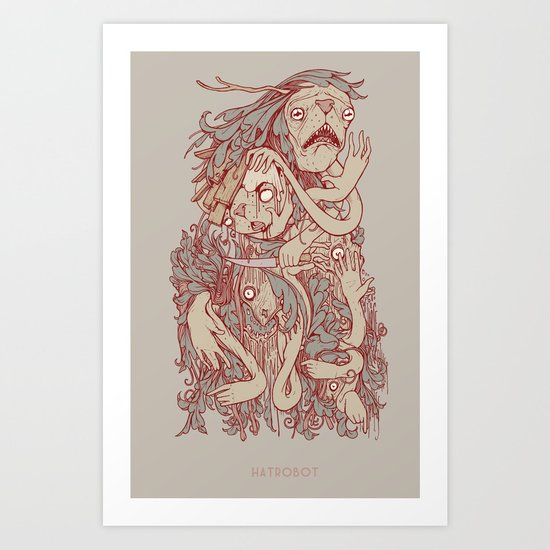 King of the pile Art Print